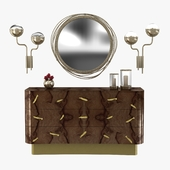 Brabbu kayan mirror, niku wall lamp and baraka chest 3D model