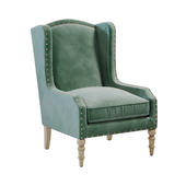 Horchow Randall Velvet Wing Chair