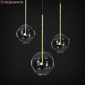 Pendant Map Giopato & Coombes Soffio Bolle Bls Mono Lamp