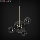 Suspension light Giopato & Coombes Bolle bls 4 Lamp