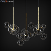 Suspension light Giopato & Coombes Bolle BLS 14L Chandelier