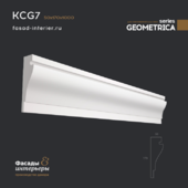"Gypsum cornice - KCG7. Dimensions (50x170x1000). Exclusive series of decor ""Geometrica""."
