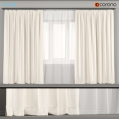 Light wide curtains with tulle.