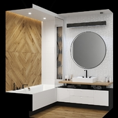 Furniture and decor in the bathroom.