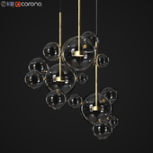 Suspension light Giopato & Coombes Bolle BLS 14C Circular Chandelier