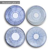 Decorative plate set 4