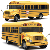 School Bus Blue Bird