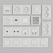 Schneider Electric Unicha sockets and switches