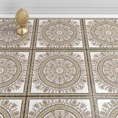Golden Tile декор Meander Rosette бежевый