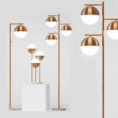 torsher white brass floor lamp