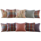 A set of pillows with fabrics Sanderson 01 (Pillows Sanderson 01 YOU)