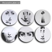 Decorative plate set 7