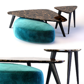 Oasis Andre Collection Small Table and Ottoman