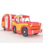 toy car and caravan