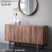 IKEA STOCKHOLM Sideboard and mirror