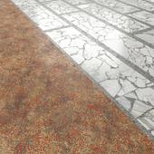 Terrazzo. Marble Palladiana.