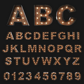 Vintage Marquee Letters / Illuminated letters