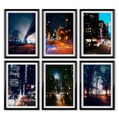 Posters: night New York.