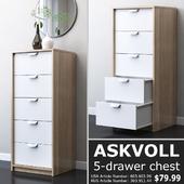 IKEA ASKVOLL Chest of 5 drawers