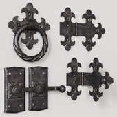 Wrought iron door elements