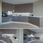 Diagonal kitchen