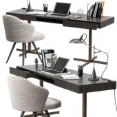 Minotti Close writing desk set