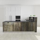 SImple Oldwood kitchen