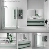 Bathroom furniture set Gold