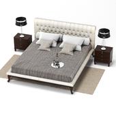 Opera contemporary sansone classic king size bed