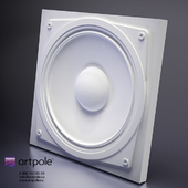 Plaster 3d Sound panel from Artpole