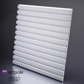 Plaster 3d panel Paraline from Artpole