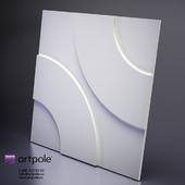 Plaster Hoop 3d panel from Artpole