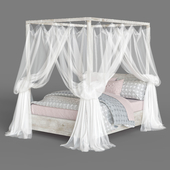 RH CALLUM PLATFORM CANOPY WITH HEADBOARD