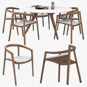 Manutti Solid chair & Torsa Table
