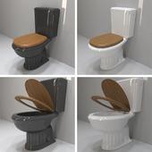 The royal black or white toilet