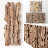 Деревянные слэбы панно