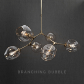 Branching bubble 6 lamps 2 by Lindsey Adelman Clear/gold