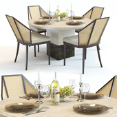 Baker Solid and Cane dinning set