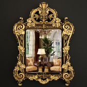 18th century Regence period giltwood mirror