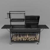 bbq grill & firewood