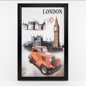 Retro London Car Theme painting