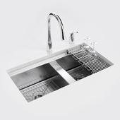 """KOHLER """"8 Degree"""" under-mount kitchen sink"""