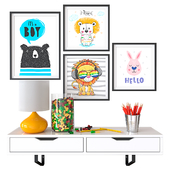 Decorative set children's room 03