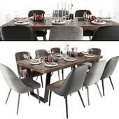Zuma Pumice Accent Chair Dining Set