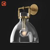 Rh Machinist Glass Cloche Sconce