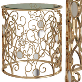 Tessy Mirror-Top Side Table