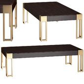 Allura Brass Accent Coffee Table