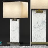 RECTANGULAR COLUMN MARBLE TABLE LAMP