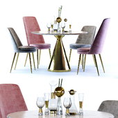 West Elm Silhouette Table and Finley Chair