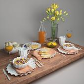 Freesia table setting
